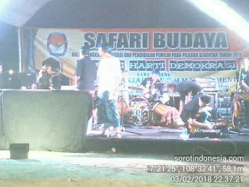 Safari budaya terkait Pilkada Serentak yang digelar KPU Kota Banjar, Sabtu (3/1/2018).