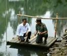 Presiden Jokowi dan Pangdam Siliwangi Mayjen TNI Doni Monardo