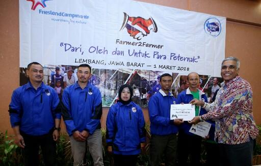 Penutupan Program Farmer2Farmer (F2F) yang digelar Frisian Flag Indonesia di Lembang