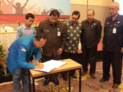 Penandatanganan Mou KNPI Kota Semarang