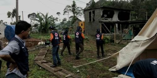 Aktifitas satgana PMI di area bencana Banjarnegara