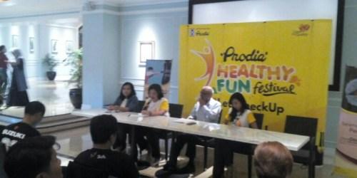 Konferensi pers Prodia Healthy Fun Festival di Ciwalk, Kota Bandung, (28/4/2018)