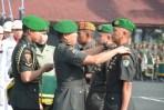 Pangdam III/Siliwangi Mayjen TNI Besar Harto Karyawan, S.H, M. Tr. (Han)., memimpin serah terima jabatan Danyon Zipur 3/YW dan Danyon Armed 5/105 Tarik