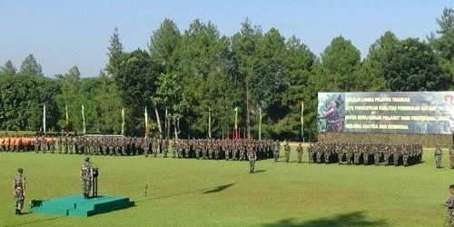 Upacara pembukaan Lomba Peleton Tangkas TNI AD tahun 2018
