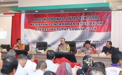 Kapolda Jabar Dan Kakor Lantas Polri Gelar Rapat Lintas Sektor Pengamanan Arus Balik 2018