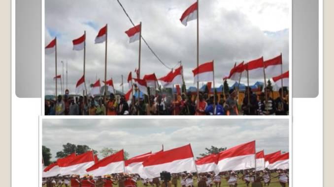 Pemerintah Merauke kibarkan 1.945 bendera Merah Putih