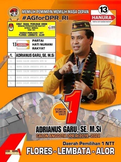 Andre Garu Caleg DPR RI Partai Hanura