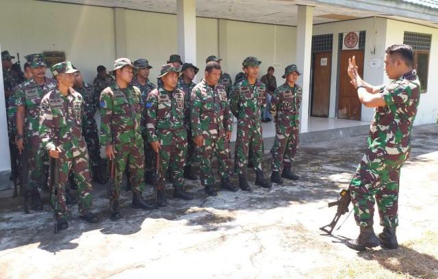 latihan menembak prajurit lantamal vii
