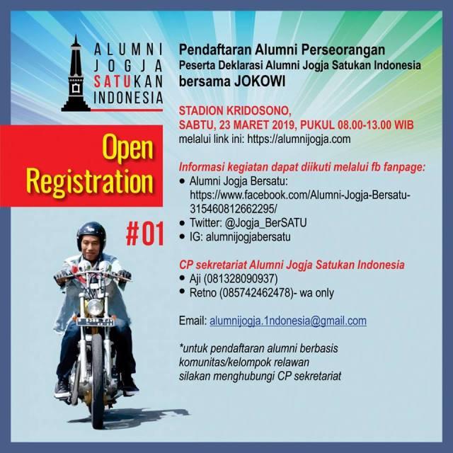Open registration Alumni Jogja SATUkan Indonesia