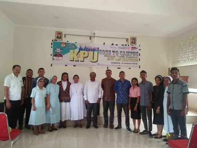 KPU Goes to Campus di STIPAS Kupang