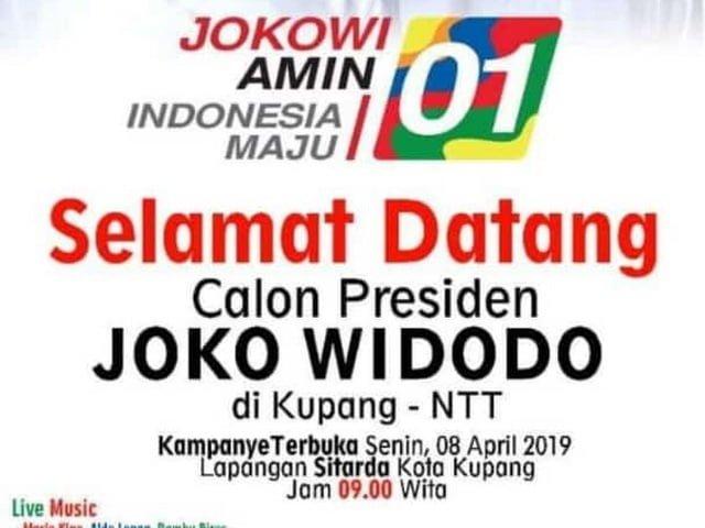 kampanye terbuka Jokowi di Kupang NTT