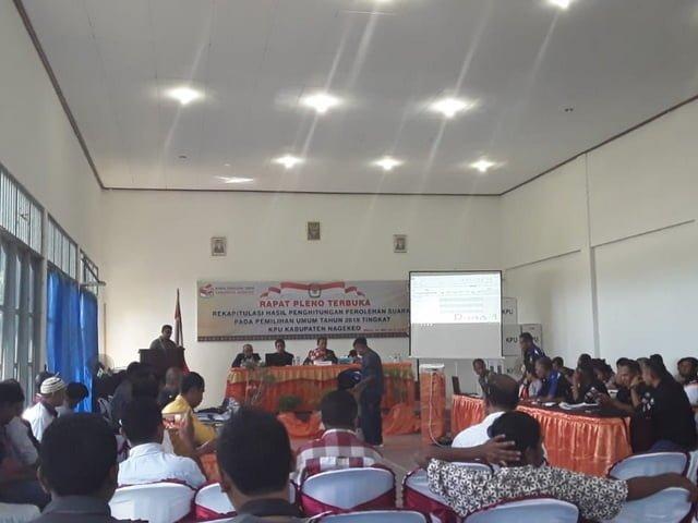 Rapat Pleno Terbuka KPU Nagekeo