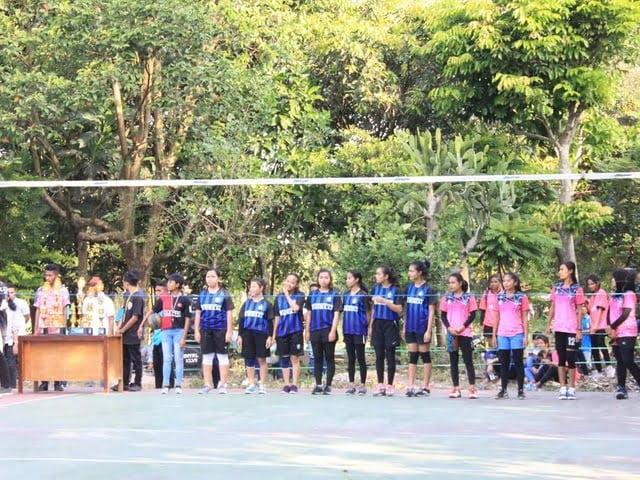 Partai final voli putri turnamen voli Ikamel Cup Malang