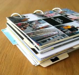 scrapbook de viaje