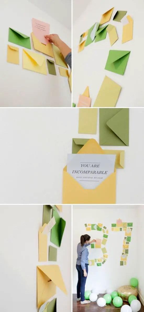 Cumplea os sobres en la pared sorpresas para tu pareja for Cuartos decorados feliz cumpleanos