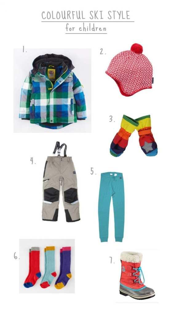 colourful ski style for children