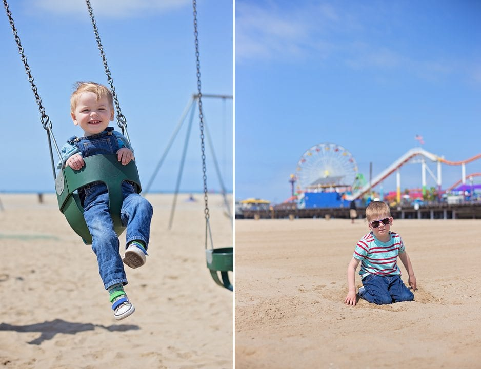 santa monica with toddlers