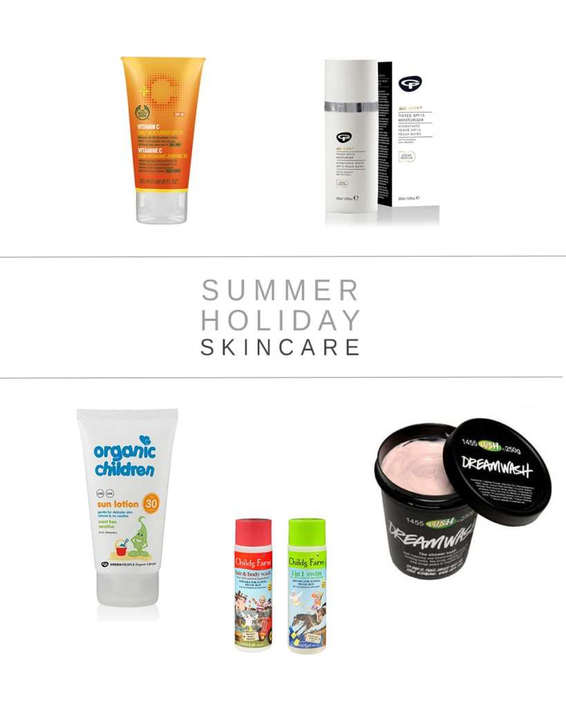 summer holiday skincare