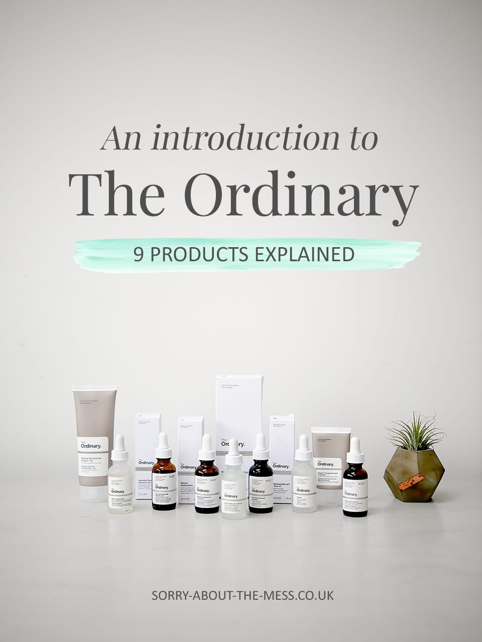 An introduction to The Ordinary 9 products explained. The Ordinary skincare review and how to use The Ordinary products