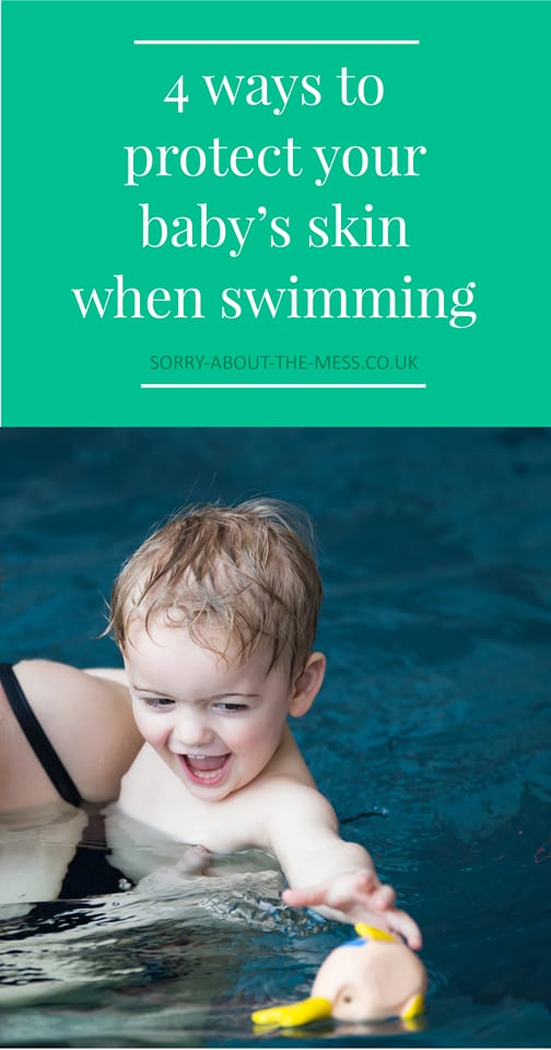 4 ways to protect your baby's skin when swimming. Useful baby swim care tips from a mum of three, including how to protect skin before during and after swimming. How to avoid a sensitive skin or eczema flare up after swimming.