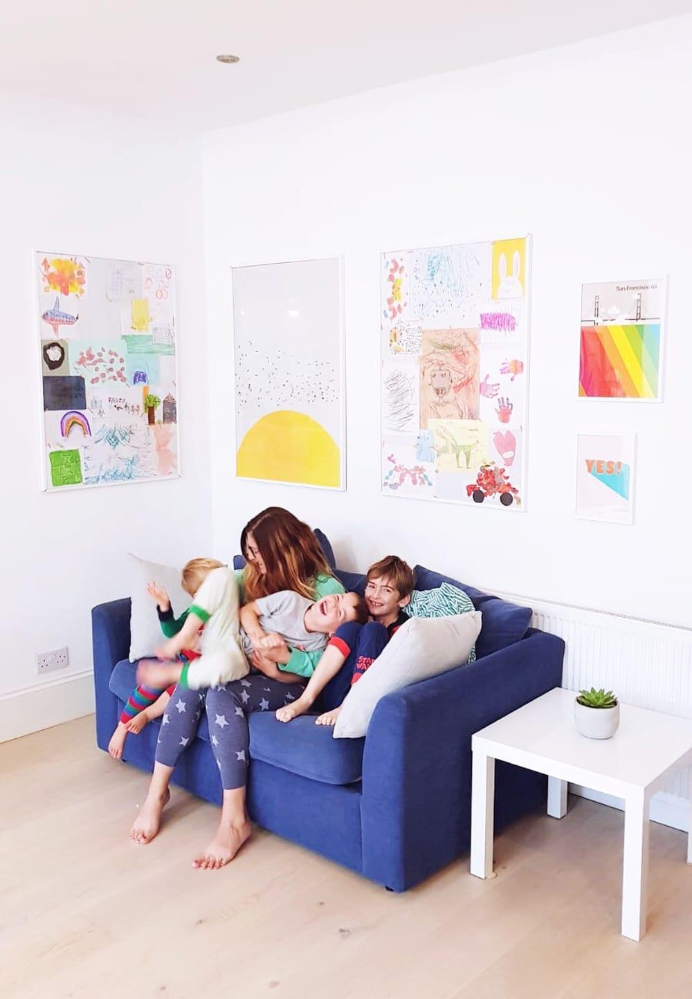 displaying children's artwork