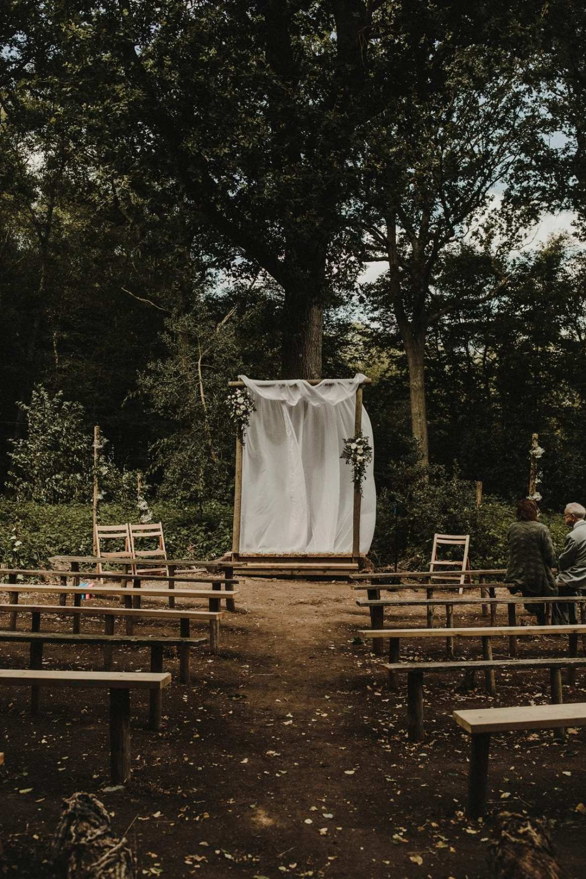 woodland wedding venue UK. Hawthbush Farm
