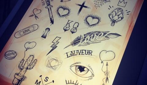tattoo flash saint valentin