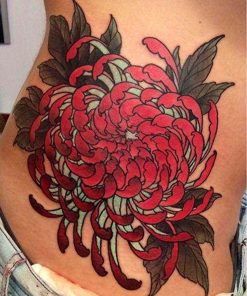Tatouage chrysanthème japonais