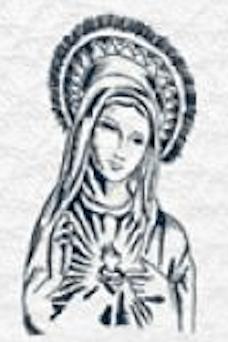 Dessin vierge marie