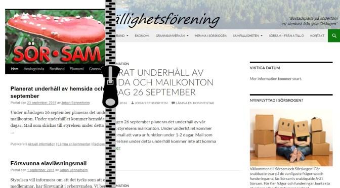 Ny hemsida, samma innehåll!