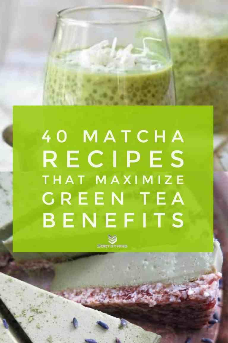 Matcha Green Tea Chia Pudding & Matcha Green Tea Cheesecake