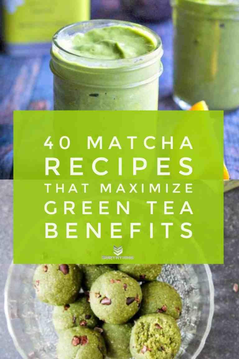 Mango Matcha Green Smoothie & Matcha Mint Choc Chip Energy Bites