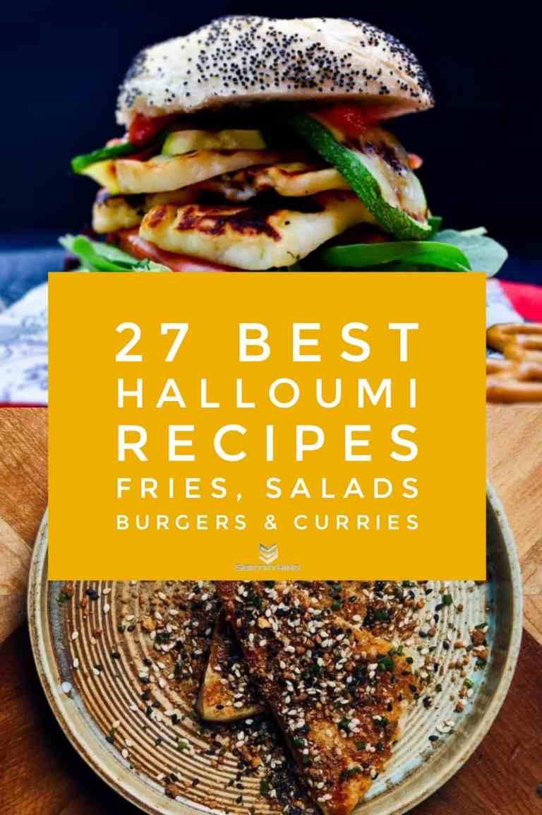 Grilled Halloumi & Red Pepper Burger & Seared Halloumi with Peanut Dukkah & Honey