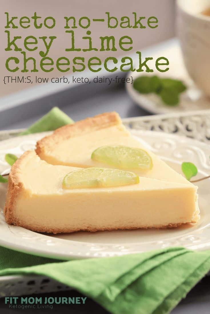 Keto No-Bake Key Lime Cheesecake