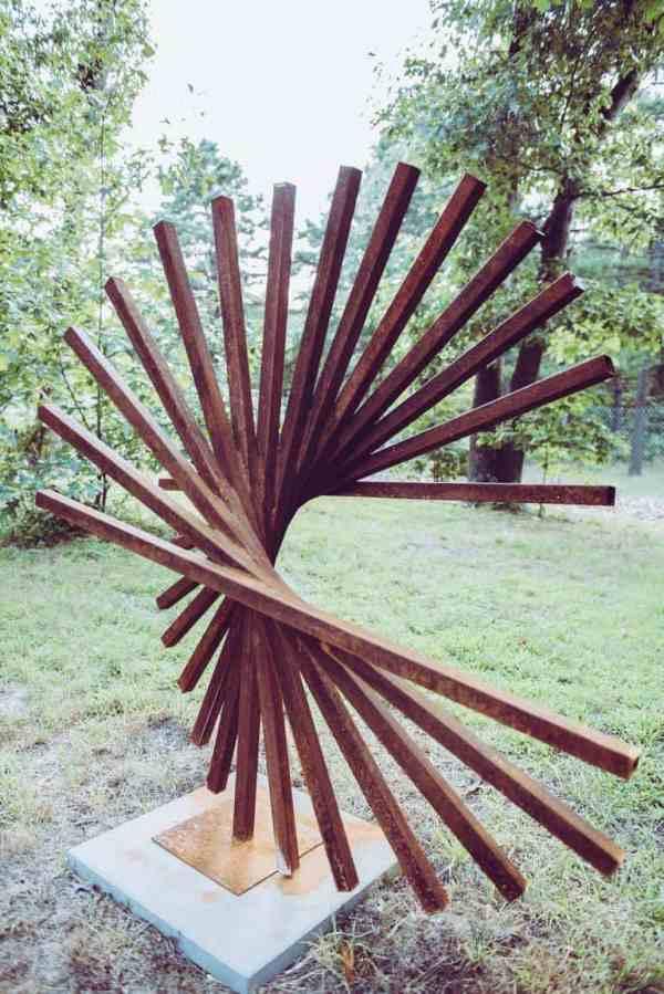 """""""Adorne corten steel large sculpture"""" - Original Artwork by Vadim Kharchenko"""