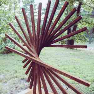 """Adorne corten steel large sculpture"" - Original Artwork by Vadim Kharchenko"