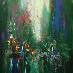 """""""Approaching Lexington Avenue"""" - Open Edition Print by Chin h Shin"""