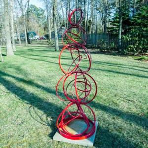 """Casei Large Modern Mid Century Metal outdoor sculpture"" - Original Artwork by Vadim Kharchenko"