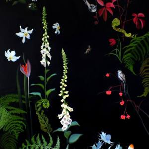 """Foxgloves and Unfurling Ferns"" - Open Edition Print by Lara Cobden"