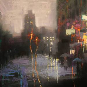 """NYU in Rain"" - Open Edition Print by Chin h Shin"