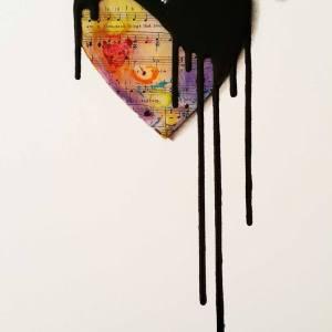 """""""ORIGINAL 3D painting - Clockwork Heart: Sing"""" - Original Artwork by VeeBee VeeBee"""