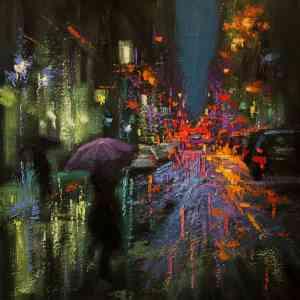 """""""Purple Umbrella"""" - Open Edition Print by Chin h Shin"""