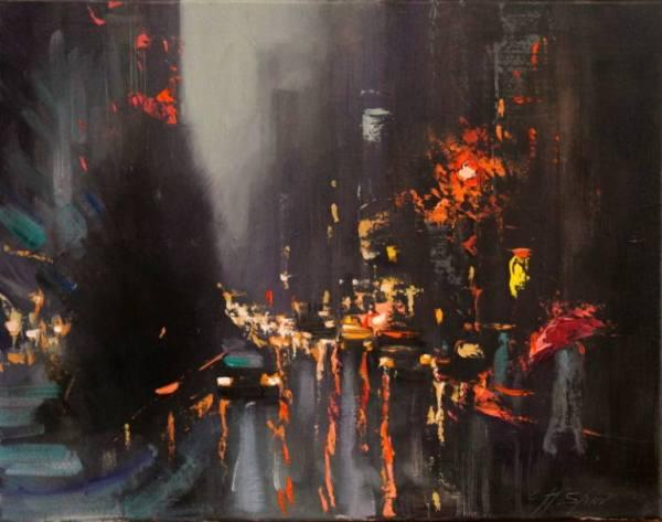 """Rainy Day Traffic"" - Open Edition Print by Chin h Shin"