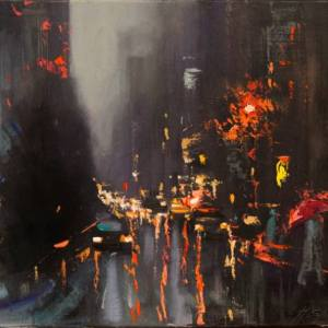 """Rainy Day Traffic"" - Open Edition Print by Chin h Shin"