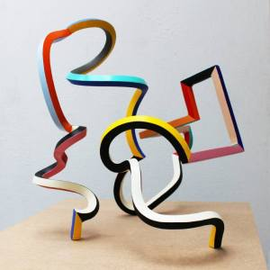 """Streamer 47"" - Original Artwork by Frans Muhren"