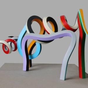 """""""Streamer Bull 2"""" - Original Artwork by Frans Muhren"""