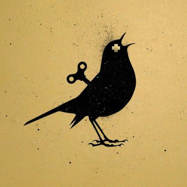 """""""VEEBEE The Clockwork Bird GOLD Original painting"""" - Open Edition Print by VeeBee VeeBee"""