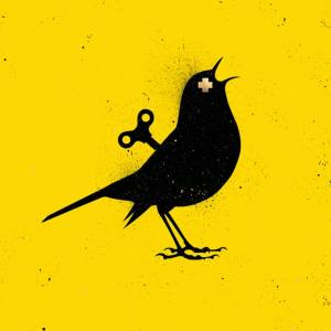 """VEEBEE The Clockwork Bird YELLOW Original Painting"" - Open Edition Print by VeeBee VeeBee"