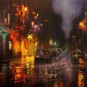 """""""Village After Rain"""" - Open Edition Print by Chin h Shin"""