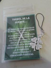 AMULETO TREBOL METAL